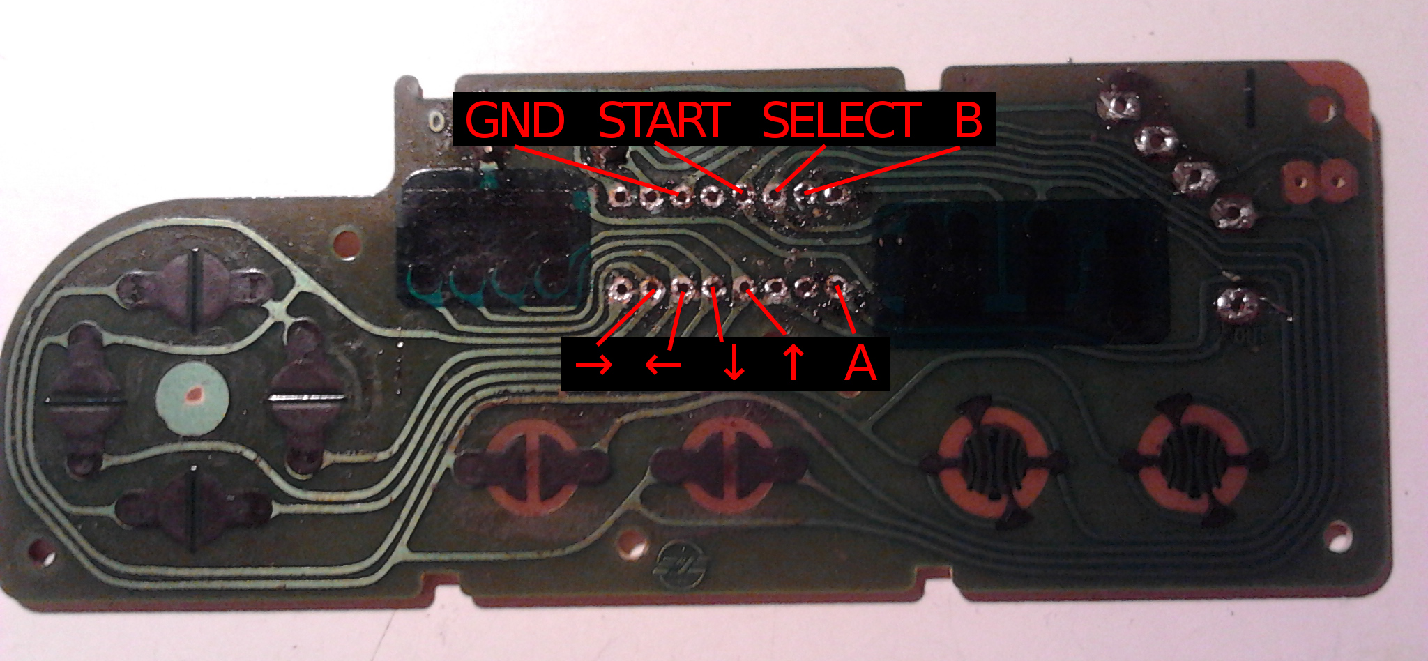 NES controller USB modification