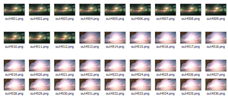 Making video slice visualizations