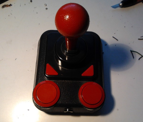 An empty chassis of the SpeedLink joystick. Full size